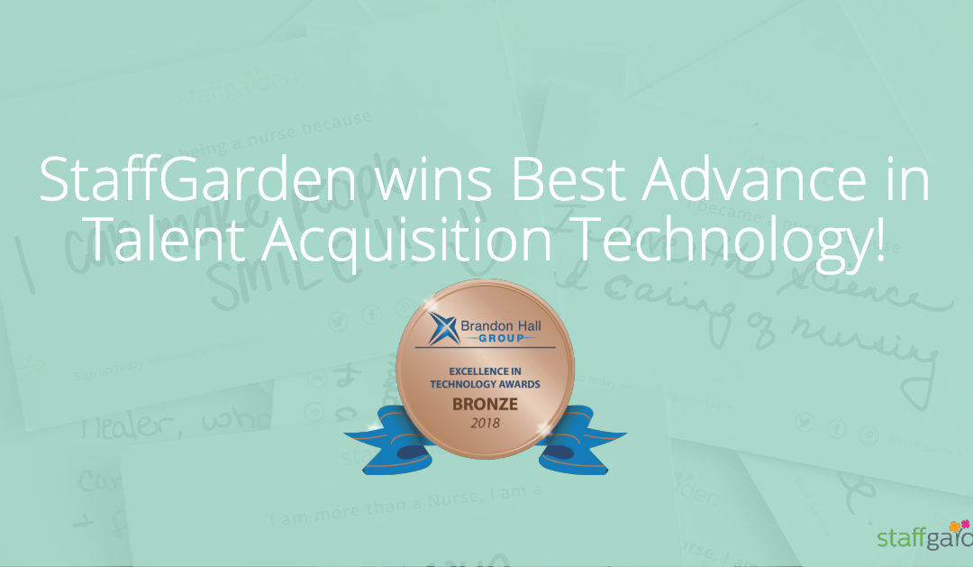 StaffGarden wins Best Advance in Talent Acquisition Technology