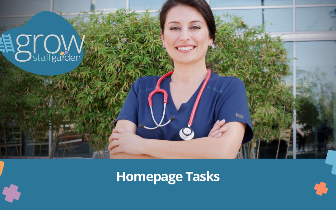 Homepage Tasks – Grow Tutorial